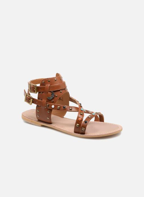 Sandales et nu-pieds Kaporal Moore Marron vue détail/paire