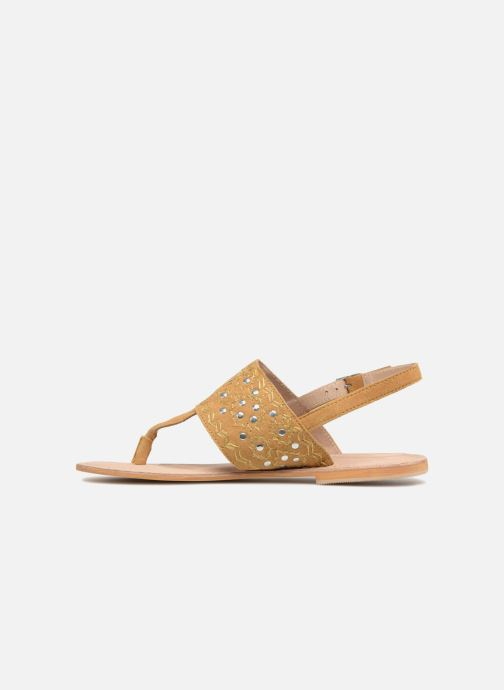 Sandalen Kaporal Moost gelb ansicht von vorne