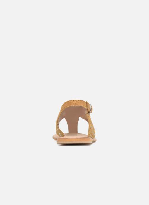 Sandales et nu-pieds Kaporal Moost Jaune vue droite