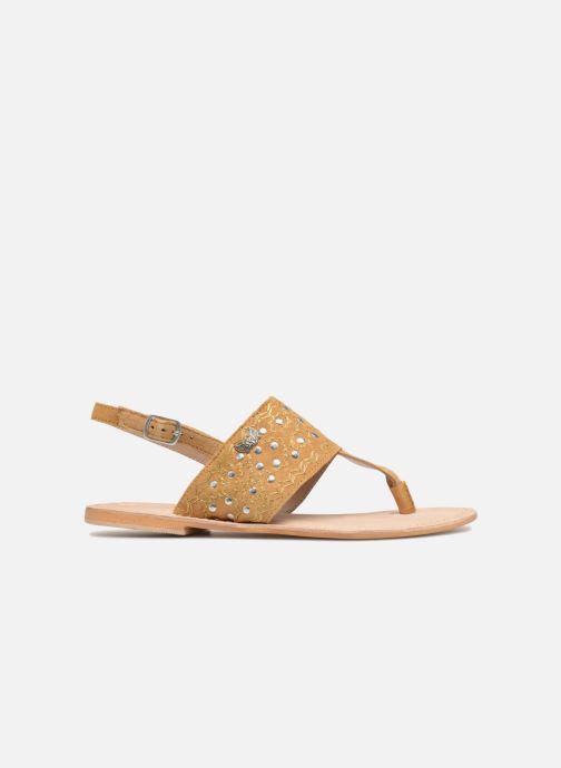 Sandales et nu-pieds Kaporal Moost Jaune vue derrière