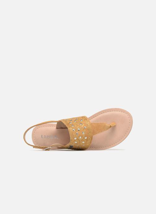 Sandales et nu-pieds Kaporal Moost Jaune vue gauche
