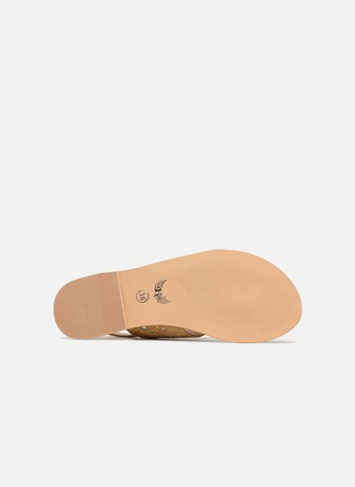 Sandales et nu-pieds Kaporal Moost Jaune vue haut