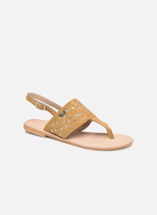 Sandales et nu-pieds Kaporal Moost Jaune vue détail/paire