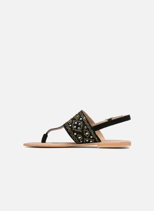 Sandales et nu-pieds Kaporal Moost Noir vue face