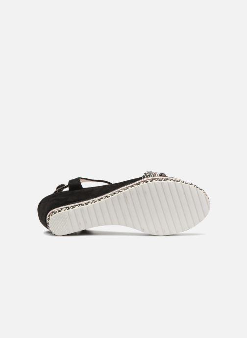 Sandales et nu-pieds Kaporal Slyde Noir vue haut