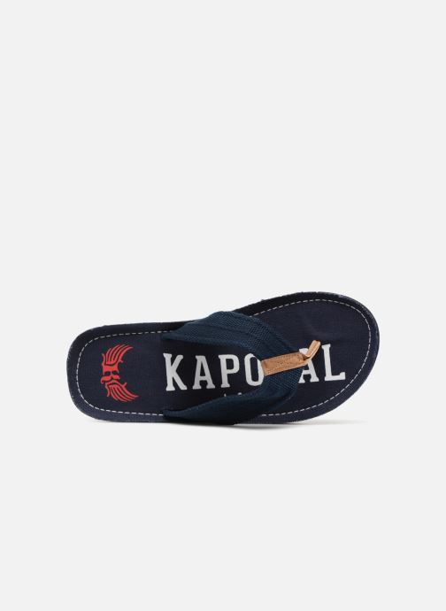 Flip flops Kaporal Taino Blue view from the left