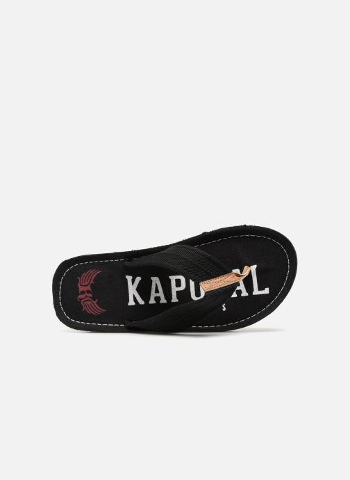 Flip flops Kaporal Taino Black view from the left