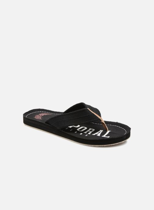 Flip flops Kaporal Taino Black detailed view/ Pair view