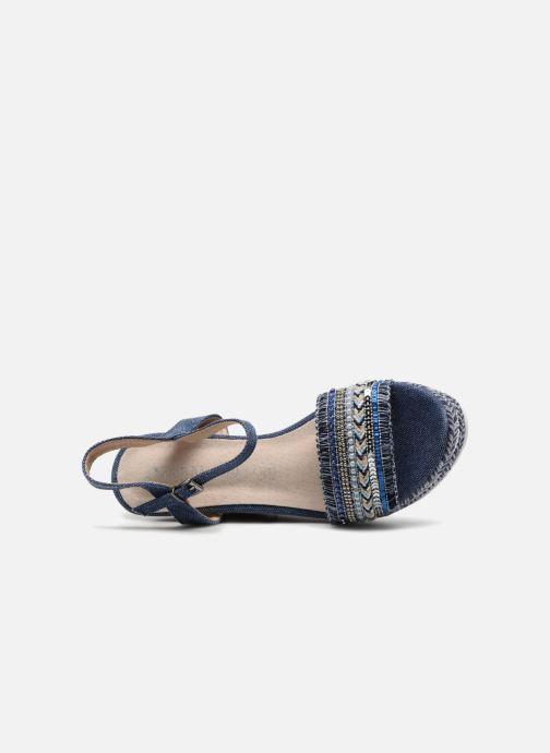Sandales et nu-pieds Kaporal Tali Bleu vue gauche