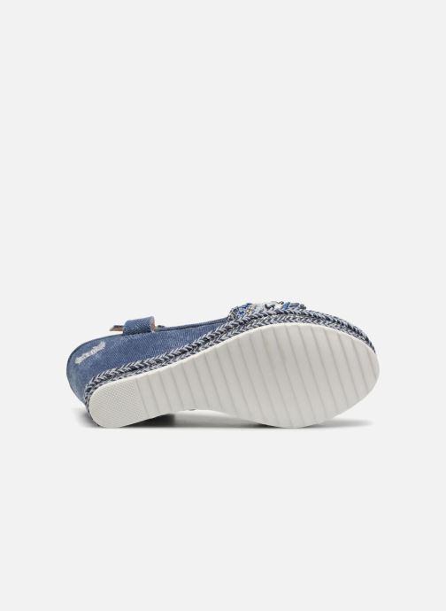 Sandales et nu-pieds Kaporal Tali Bleu vue haut