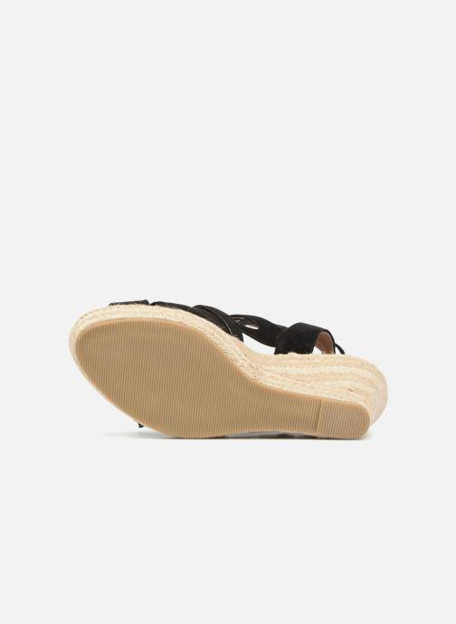 Sandales et nu-pieds Kaporal Tanao Noir vue haut
