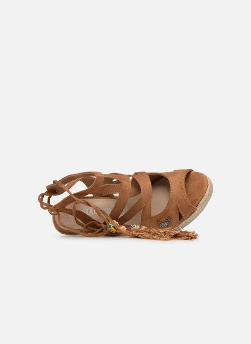Sandales et nu-pieds Kaporal Tanao Marron vue gauche
