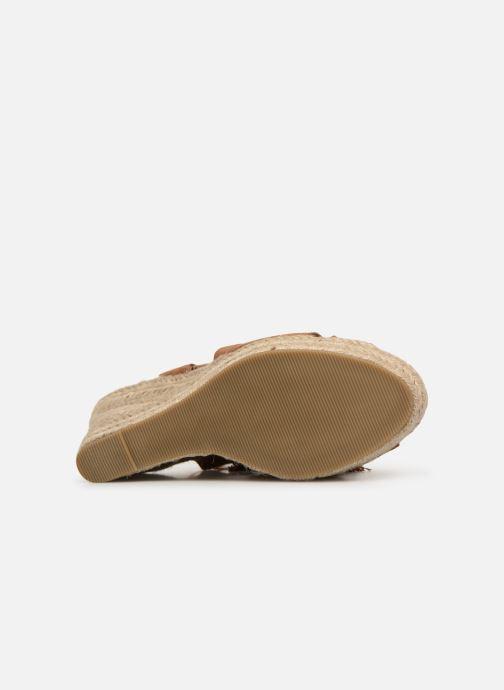 Sandales et nu-pieds Kaporal Tanao Marron vue haut