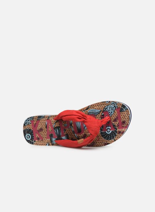 Flip flops Kaporal Takine Red view from the left