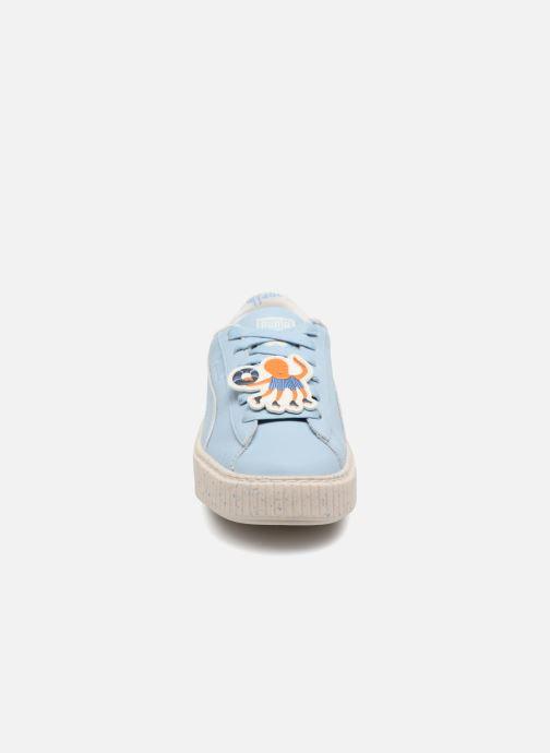 Baskets Puma PUMA X TC PLATFORM Bleu vue portées chaussures
