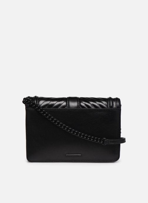 Handtaschen Rebecca Minkoff Chevron Quilted Small Love Crossbody schwarz ansicht von vorne