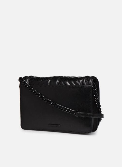 Handtaschen Rebecca Minkoff Chevron Quilted Small Love Crossbody schwarz ansicht von rechts