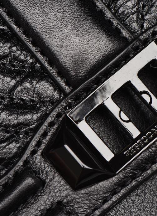 Handtaschen Rebecca Minkoff Chevron Quilted Small Love Crossbody schwarz ansicht von hinten