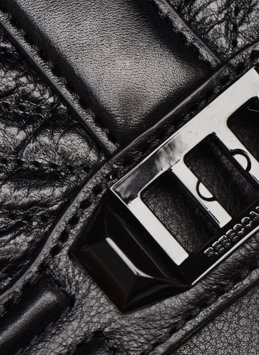 Handtassen Rebecca Minkoff Chevron Quilted Small Love Crossbody Zwart achterkant