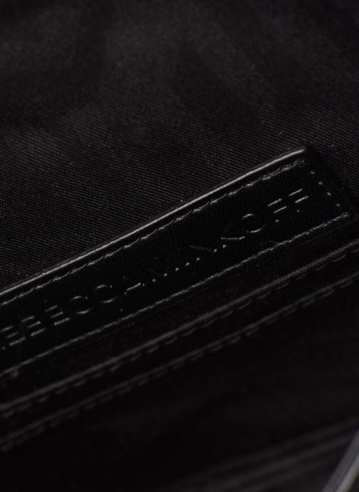 Handtaschen Rebecca Minkoff Chevron Quilted Small Love Crossbody schwarz ansicht von links