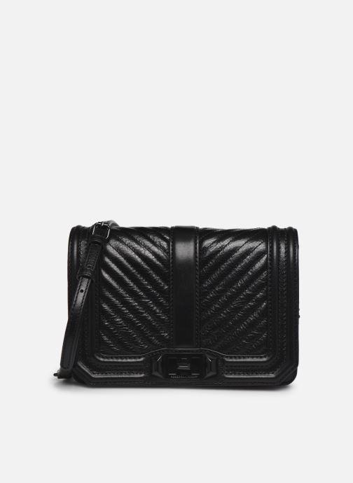 Handtaschen Rebecca Minkoff Chevron Quilted Small Love Crossbody schwarz detaillierte ansicht/modell