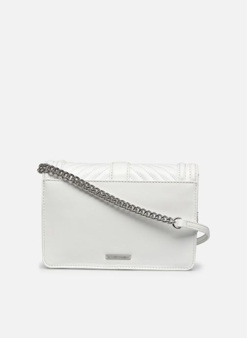 Sacs à main Rebecca Minkoff Chevron Quilted Small Love Crossbody Blanc vue face