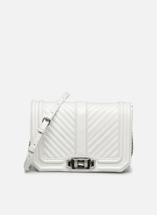 Sacs à main Rebecca Minkoff Chevron Quilted Small Love Crossbody Blanc vue détail/paire