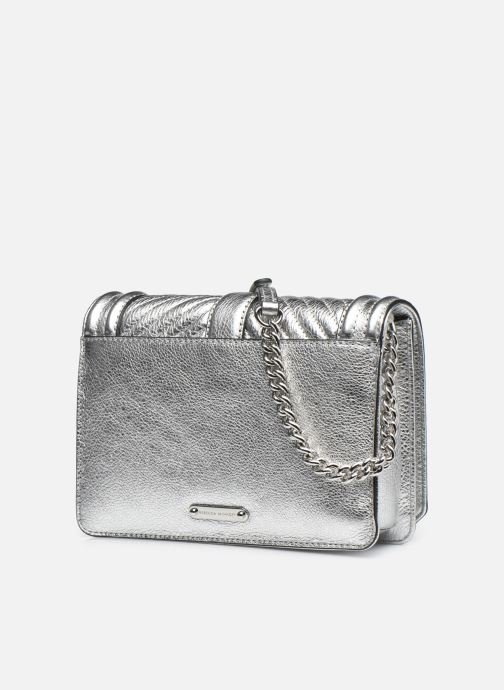 Sacs à main Rebecca Minkoff Chevron Quilted Small Love Crossbody Argent vue droite