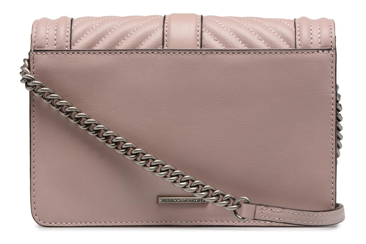 Sacs à main Rebecca Minkoff Chevron Quilted Small Love Crossbody Rose vue face