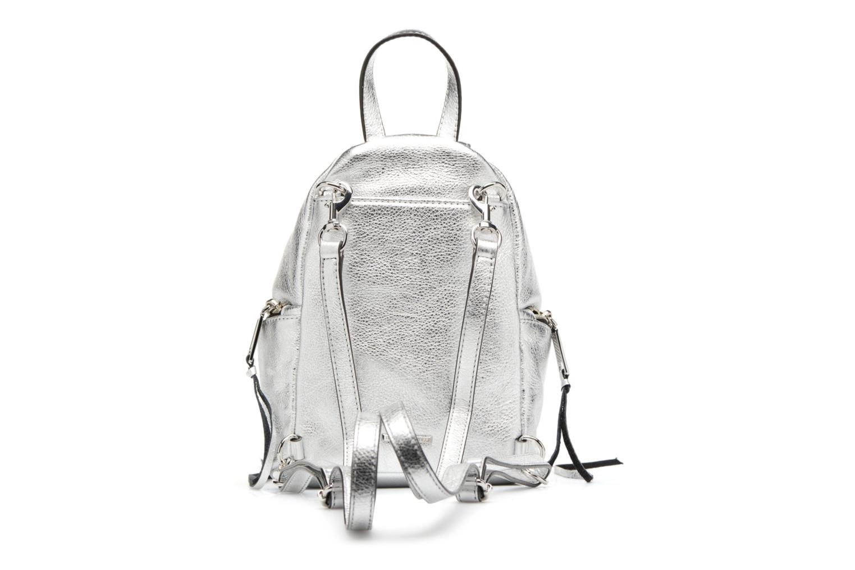 Rugzakken Rebecca Minkoff Convertible Mini Julian Backpack Zilver voorkant