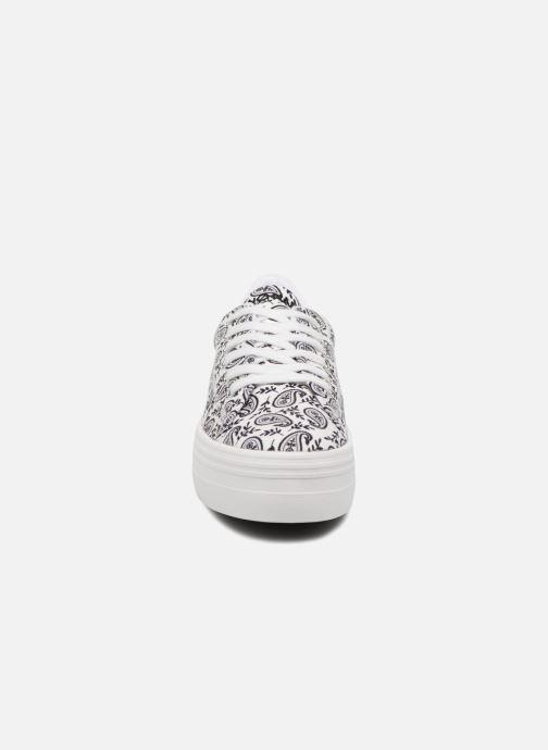 Sneakers No Name Plato Sneaker Bandana Bianco modello indossato