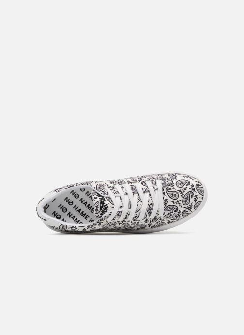 Baskets No Name Plato Sneaker Bandana Blanc vue gauche