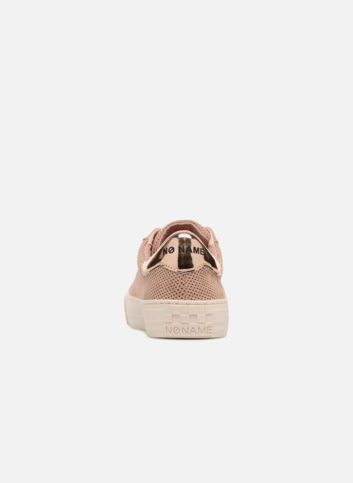 Baskets No Name Arcade Sneaker Punch Goat Sued Rose vue droite