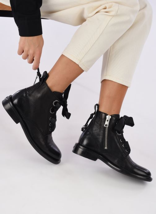 Ankle boots Zadig & Voltaire Laureen Roma Black view from underneath / model view