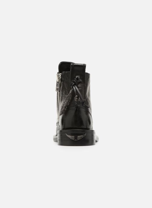 Ankle boots Zadig & Voltaire Laureen Roma Black view from the right