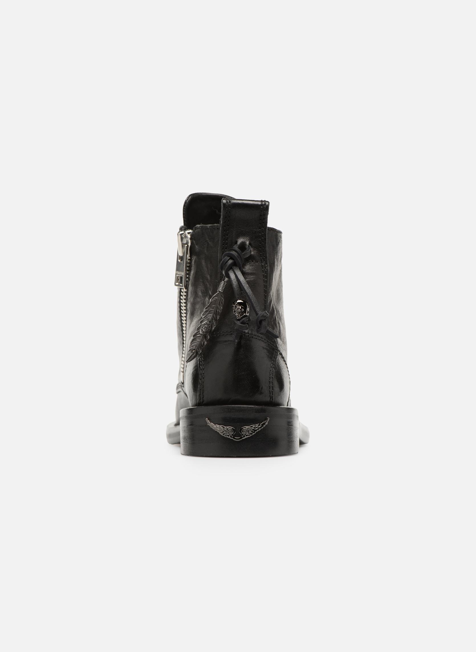 Bottines et boots Zadig & Voltaire Laureen Roma Noir vue droite