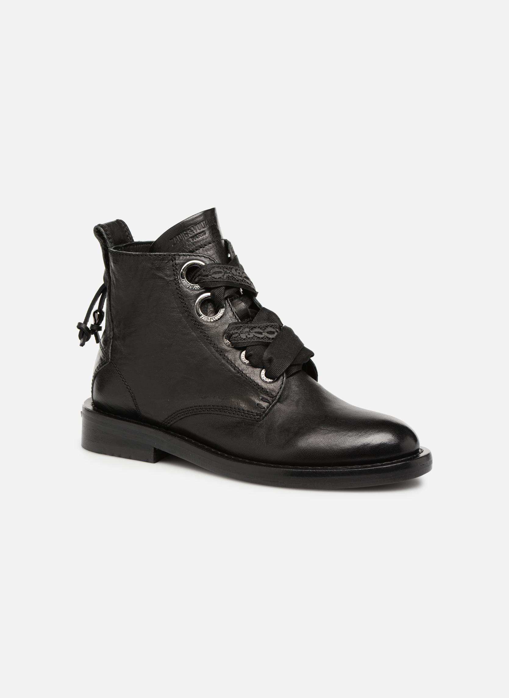 Bottines et boots Zadig & Voltaire Laureen Roma Noir vue détail/paire