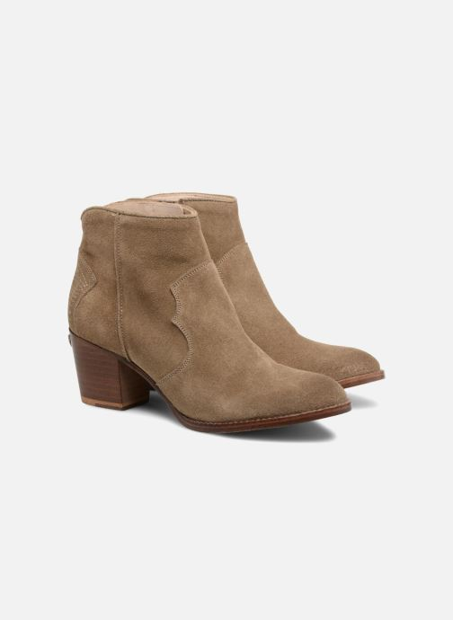 Ankle boots Zadig & Voltaire Molly Suede Beige 3/4 view