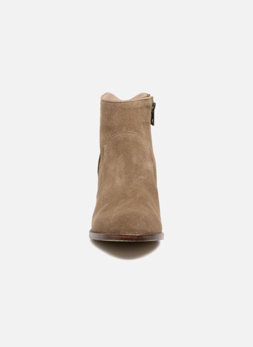 Bottines et boots Zadig & Voltaire Molly Suede Beige vue portées chaussures