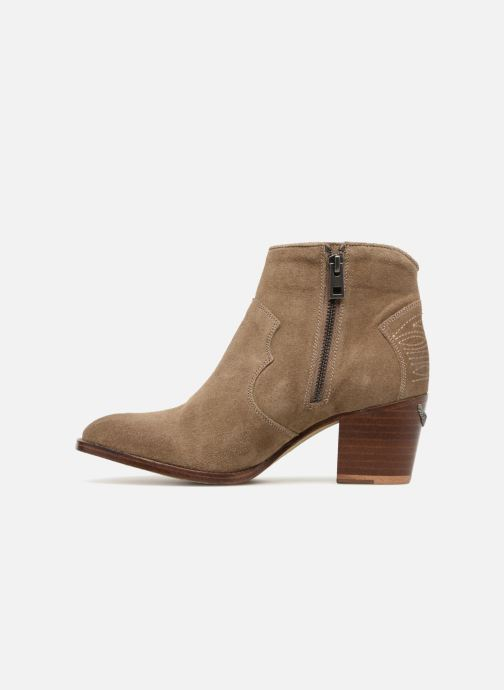 Ankle boots Zadig & Voltaire Molly Suede Beige front view