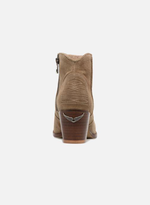 Bottines et boots Zadig & Voltaire Molly Suede Beige vue droite