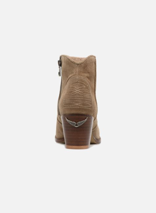 Ankle boots Zadig & Voltaire Molly Suede Beige view from the right