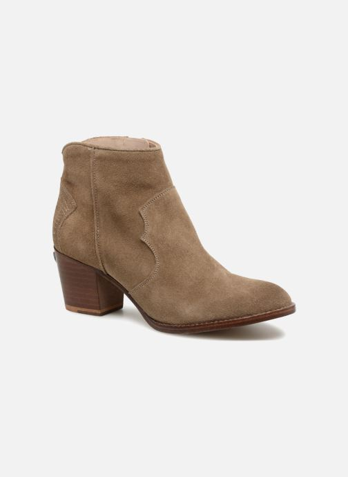 Ankle boots Zadig & Voltaire Molly Suede Beige detailed view/ Pair view