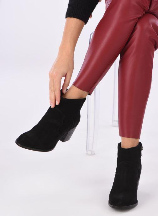 Bottines et boots Zadig & Voltaire Molly Suede Noir vue bas / vue portée sac