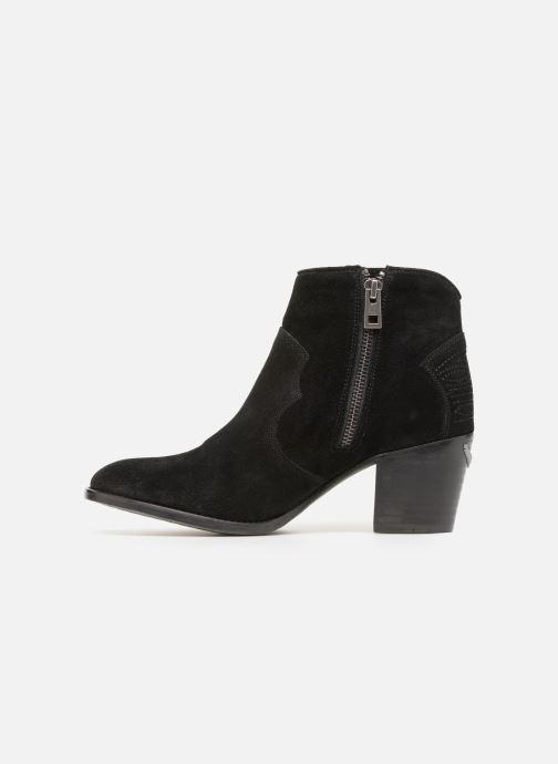 Bottines et boots Zadig & Voltaire Molly Suede Noir vue face