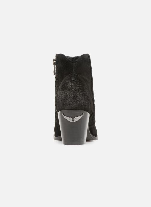 Bottines et boots Zadig & Voltaire Molly Suede Noir vue droite