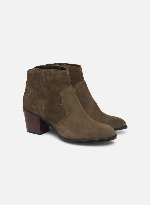 Ankle boots Zadig & Voltaire Molly Suede Green 3/4 view