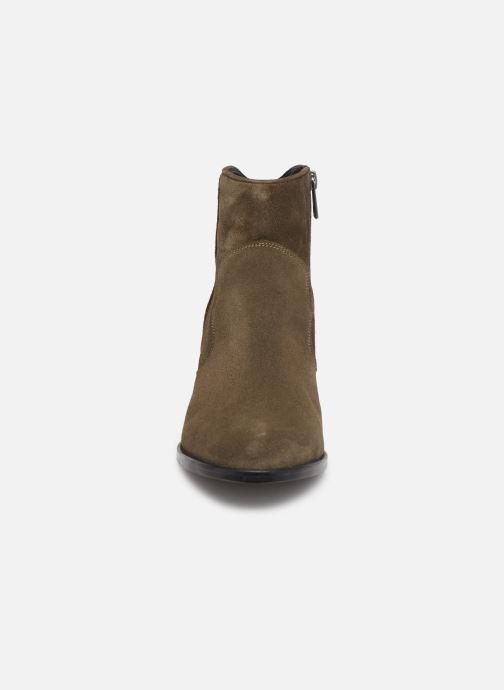 Bottines et boots Zadig & Voltaire Molly Suede Vert vue portées chaussures