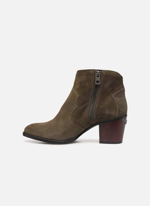 Ankle boots Zadig & Voltaire Molly Suede Green front view