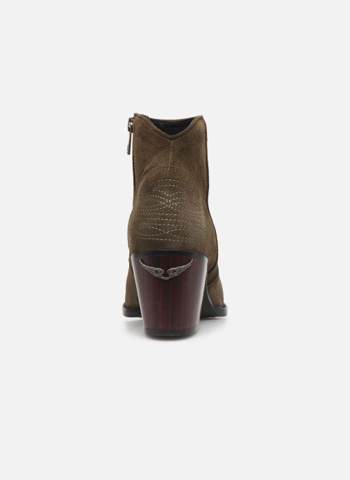 Bottines et boots Zadig & Voltaire Molly Suede Vert vue droite